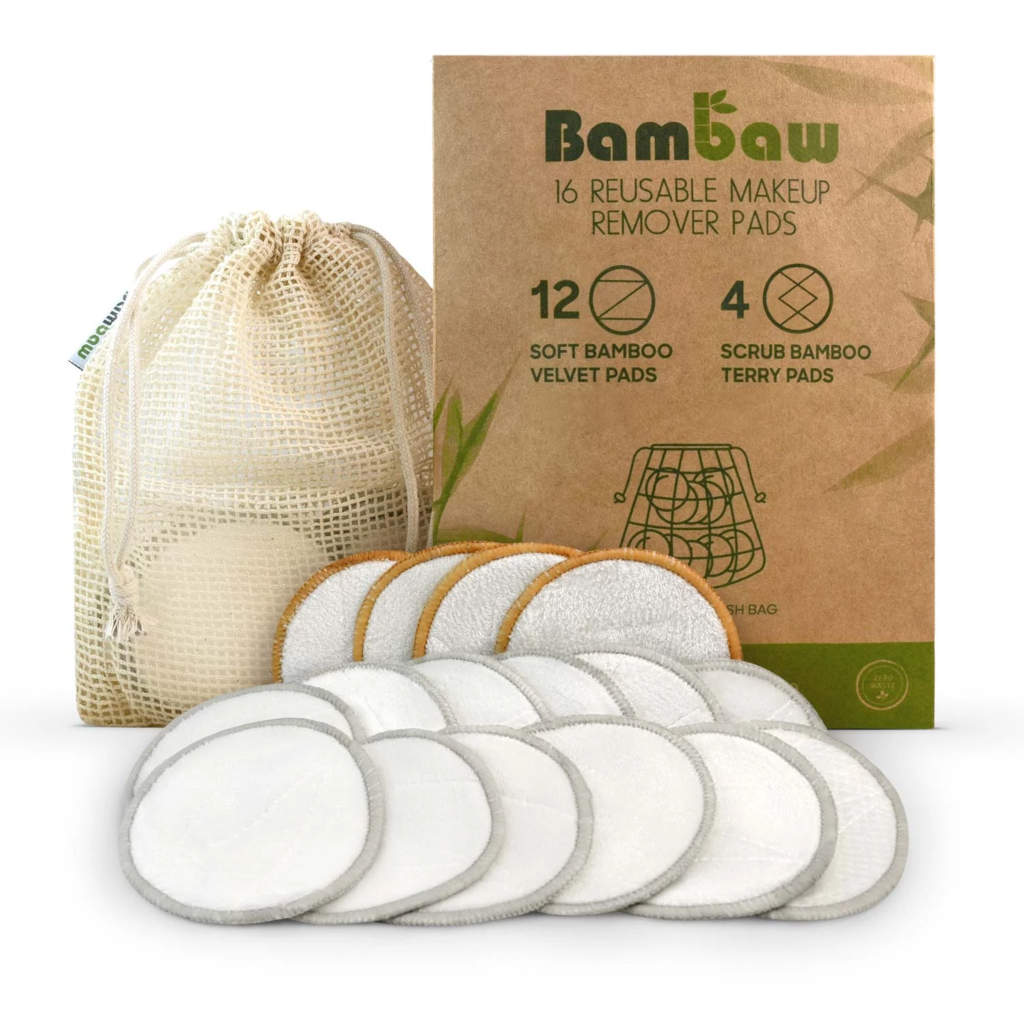 Reusable makeup remover pads from bambaw