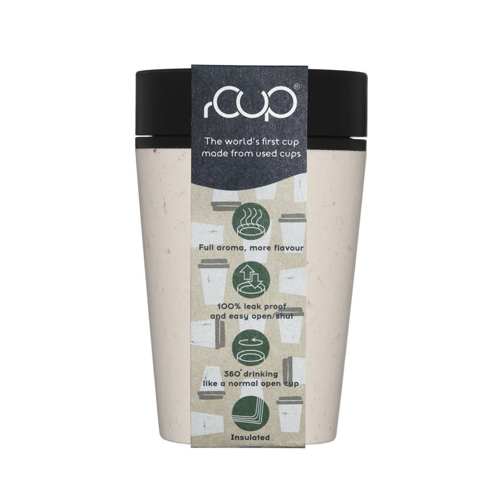 rCUP - The Recycled Reusable Coffee Cup - 12oz - 340ml - Reco
