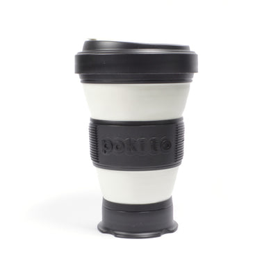 pokito collapsible coffee cup black expanded