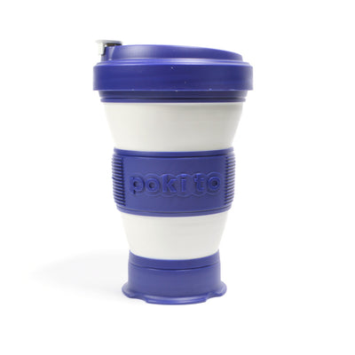 pokito collapsible coffee cup blueberry expanded