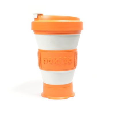 pokito collapsible coffee cup pumpkin expanded