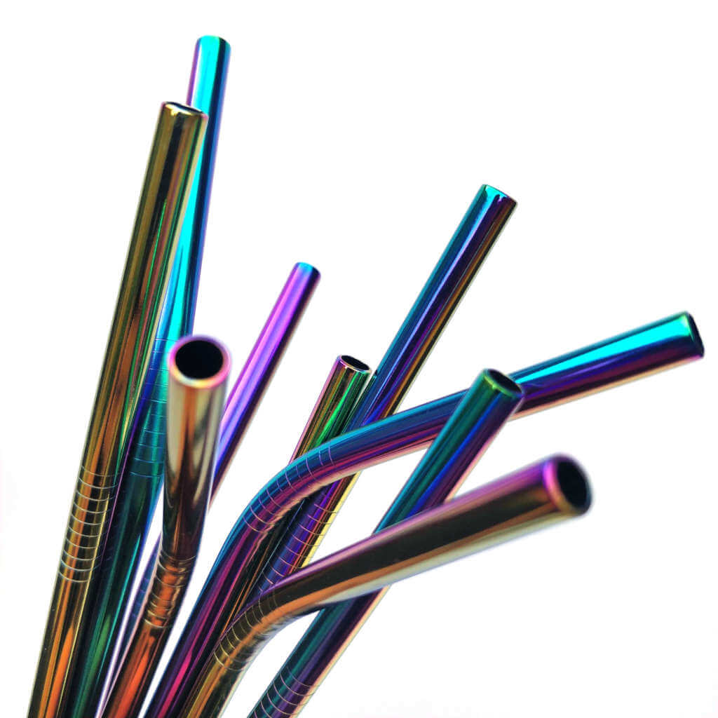 Rainbow Stainless Steel Metal Straws