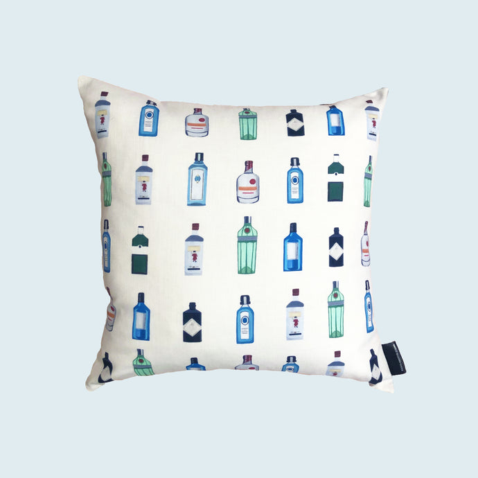 'GIN' Luxury Linen Cushion