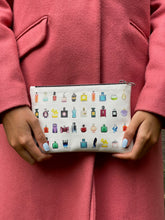 Load image into Gallery viewer, 'Art of Scent' Leather Clutch Bag