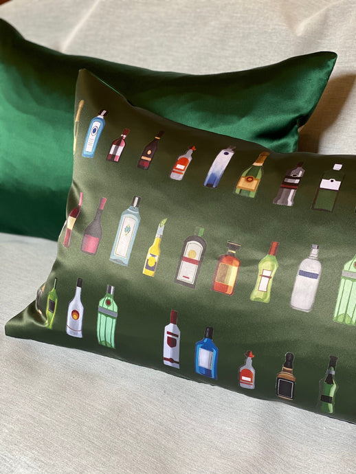 'BAR' Silk Cushion