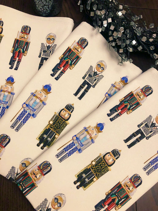 'Designer Nutcracker' Tea Towels