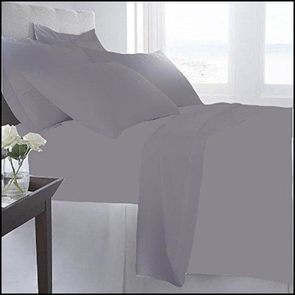 Luxury Home 6-Pc 1600 Series Bed Sheets Set - Gray - Sheets & Pillowcases