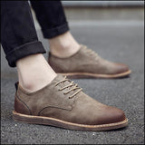 Oxfords derby casual leather shoes lace up Dress shoes - Oxfords