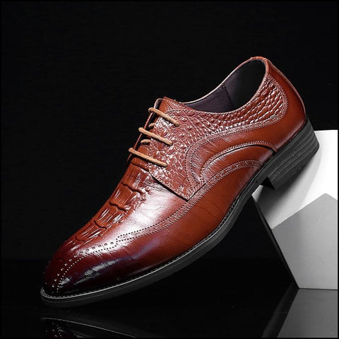 Fashion mens Crocodile pattern Leather shoes 2 colors Oxfords flats - Oxfords