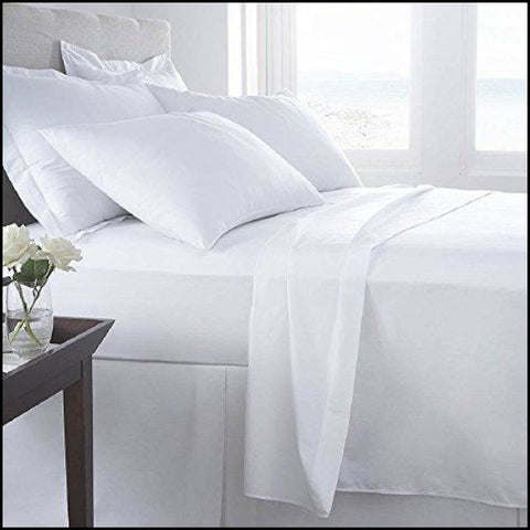 Luxury Home 6-Pc 1600 Series Bed Sheets Set - White - Size: Queen - Sheets & Pillowcases