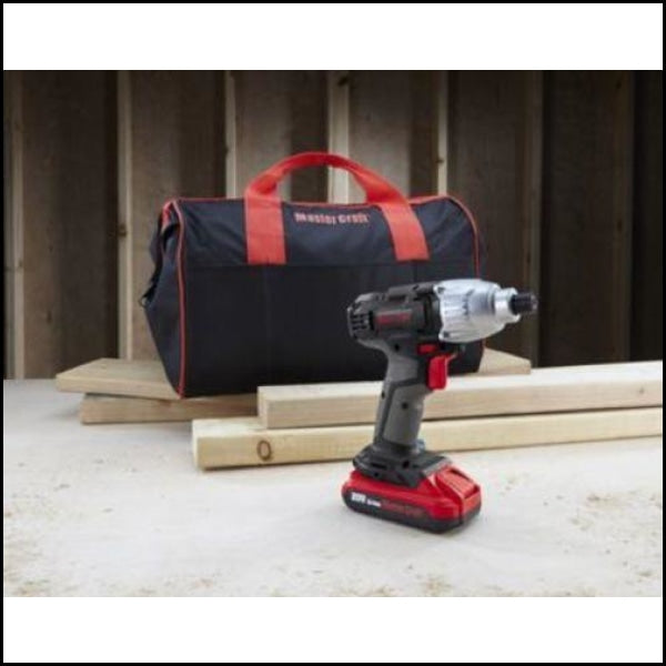 Master Craft 20V Lithium-Ion Cordless 1/4 Impact Driver Kit (BS-MC103)  Master Craft 20V Lithium-Ion Cordless 1/4 Impact Driver Kit