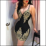 Bodycon Lace Strappy Ladies Evening Party Mini Short Dress - Dresses