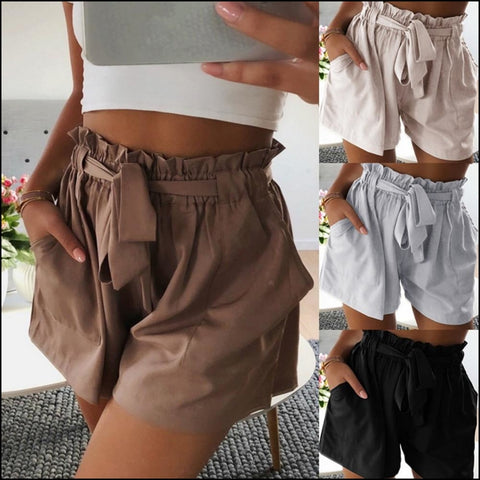 High Waist Short Women ShortsCasual Shorts Beach Fashion - Shorts
