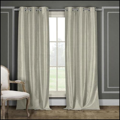 Duck River Daenerys Silk Curtain Panel 2 Pack - Taupe - Size: 38x96 - Window Treatments