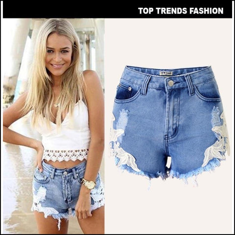 Low Waist Denim Short Jeans - Shorts