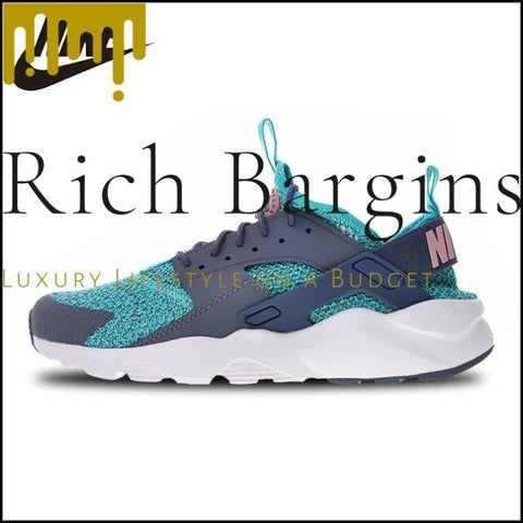 Nike Air Huarache Run Ultra White Textile Sports Running Shoes Sneakers for Men - Running Shoes