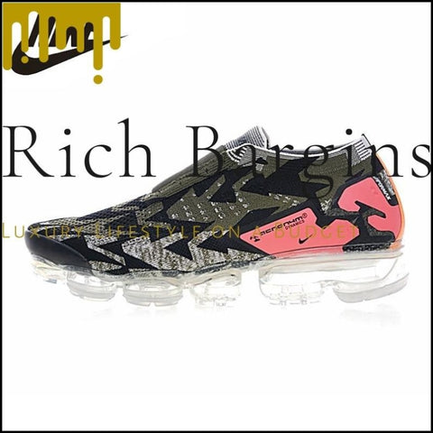 Nike Air Vapormax FK Moc 2 Acronym Breathable Mens Running Shoes Black - Running Shoes