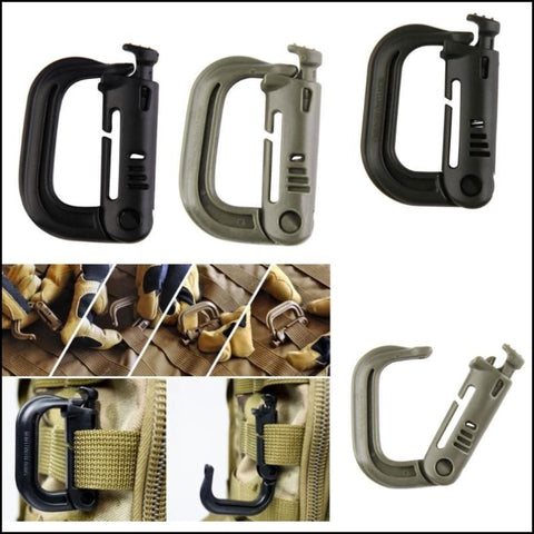 Tactical Backpack EDC Shackle Carabiner Snap Link D-Ring Clip Key Ring