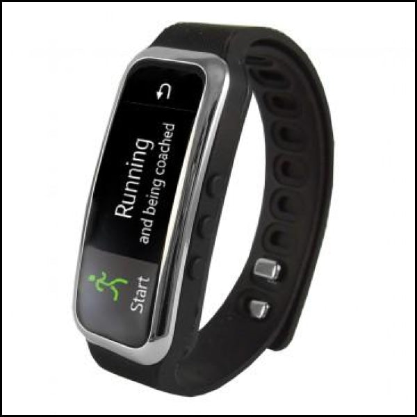 Supersonic Bluetooth Smart Wristband Fitness Tracker with Incoming Call Alert in Black - Activity Trackers