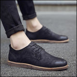 Oxfords derby casual leather shoes lace up Dress shoes - R11black / 7 - Oxfords