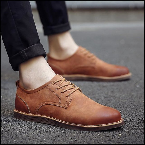 Oxfords derby casual leather shoes lace up Dress shoes - R11brown / 7 - Oxfords