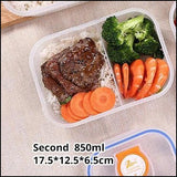 Kitchen Plastic Microwave Ben food box - Second 850ml