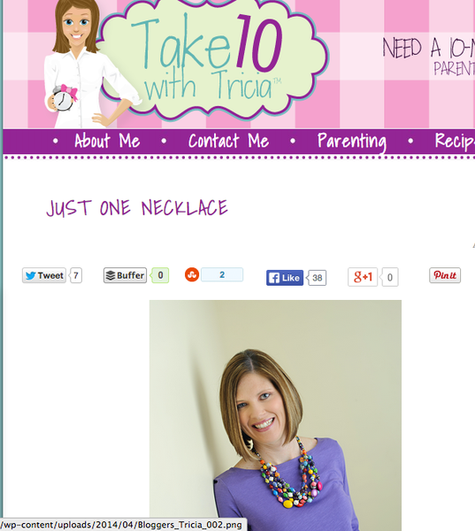Take 10 with Tricia - April 2014