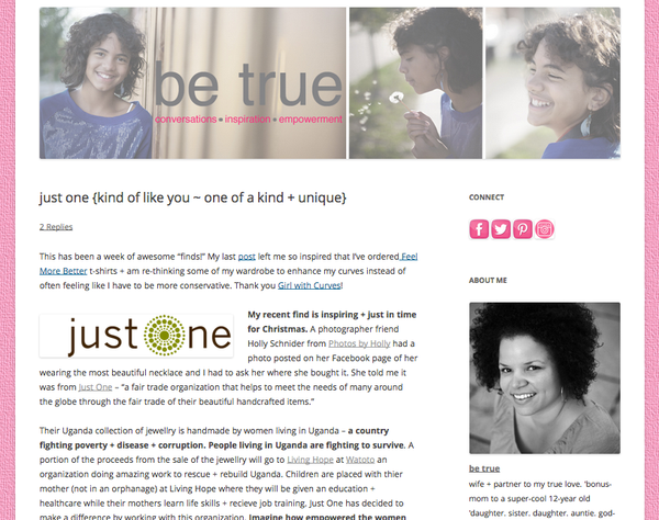 Be True Blog - November 2012