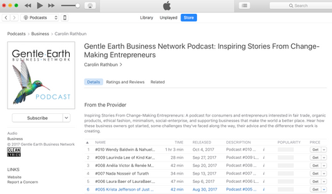 Gentle Earth Business Network Podcast