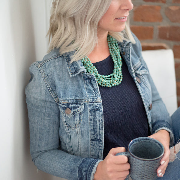 Short Teal Necklace