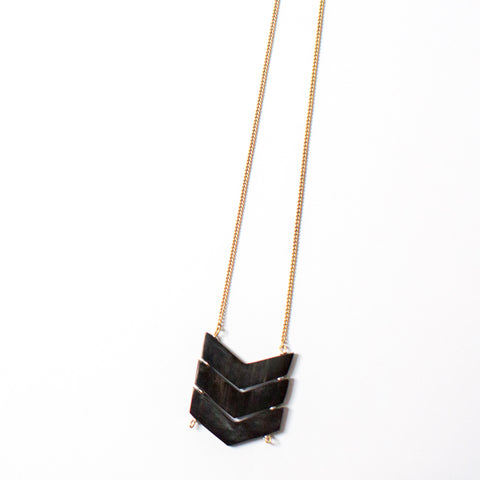 Black Chevron Necklace