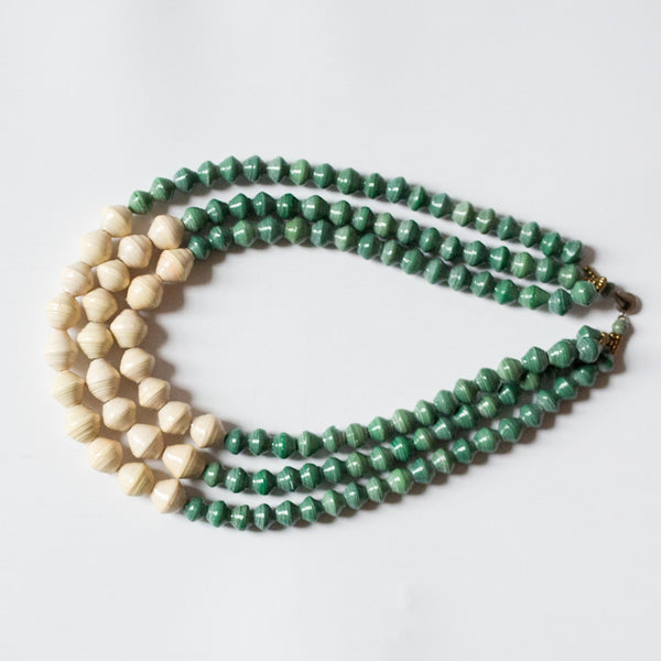 Green and Cream Necklace