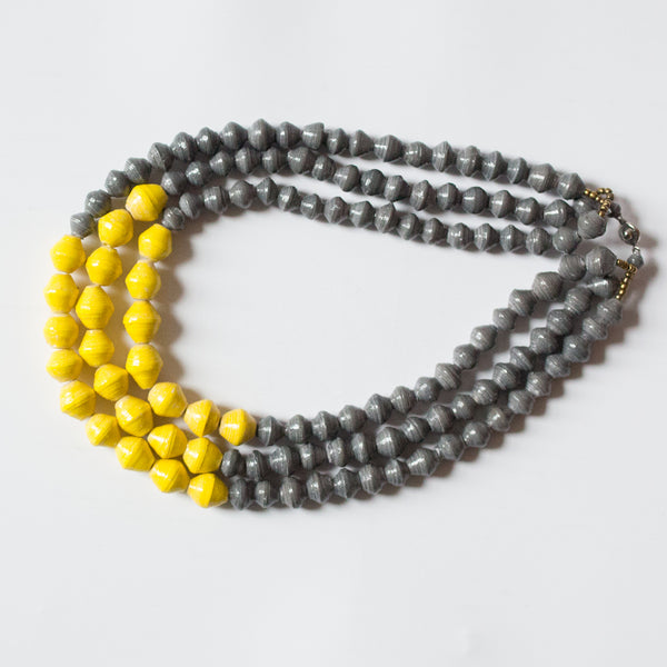 Grey and Yellow Necklace