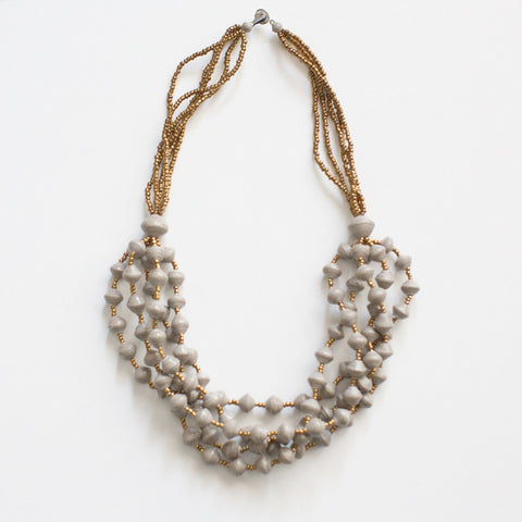 Grey Chunky Necklace