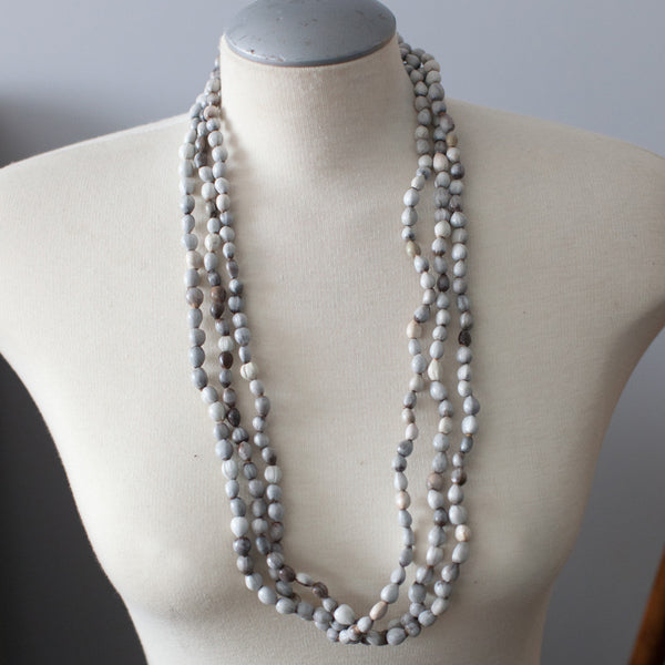 Grey Seed Necklace