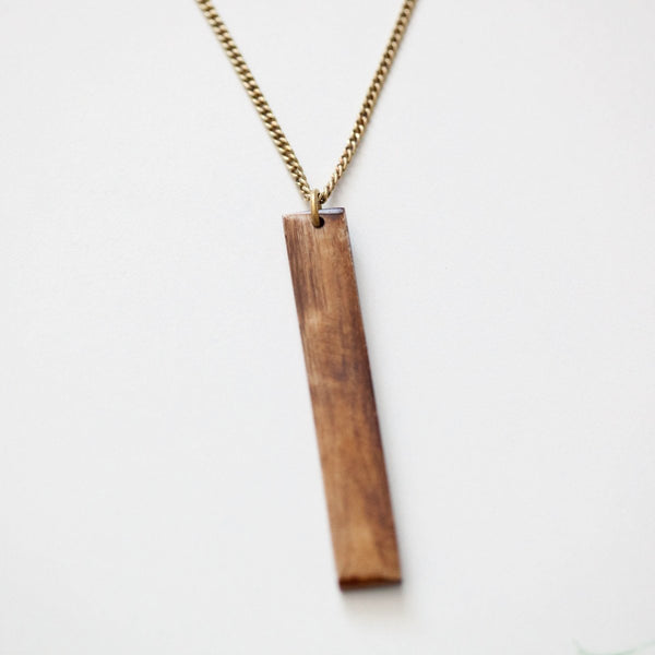 Brown Bar Necklace