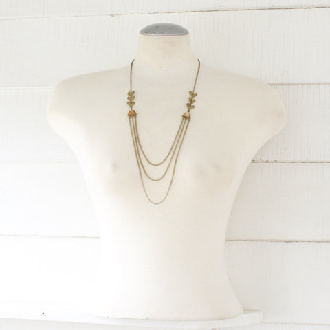 Brass and bone layered Necklace