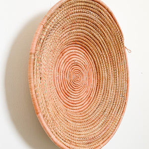 "20"" Peach Round Basket"
