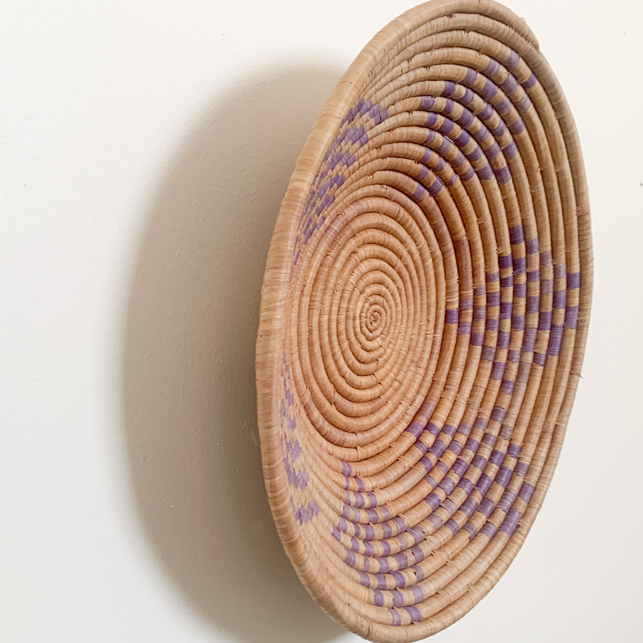 "16"" Purple Round Basket"