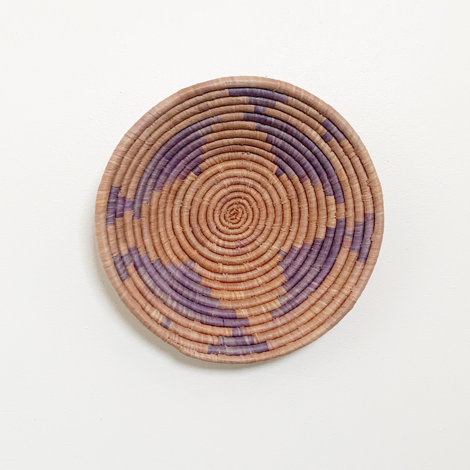"12"" Purple Round Basket"