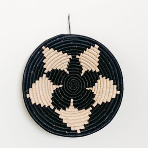 "12"" Black and Natural Round Basket"