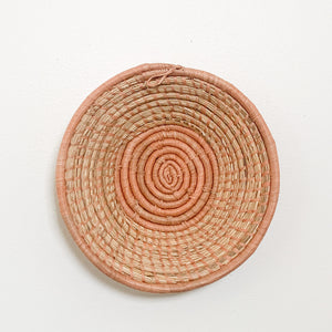 "10"" Peach Round Basket"