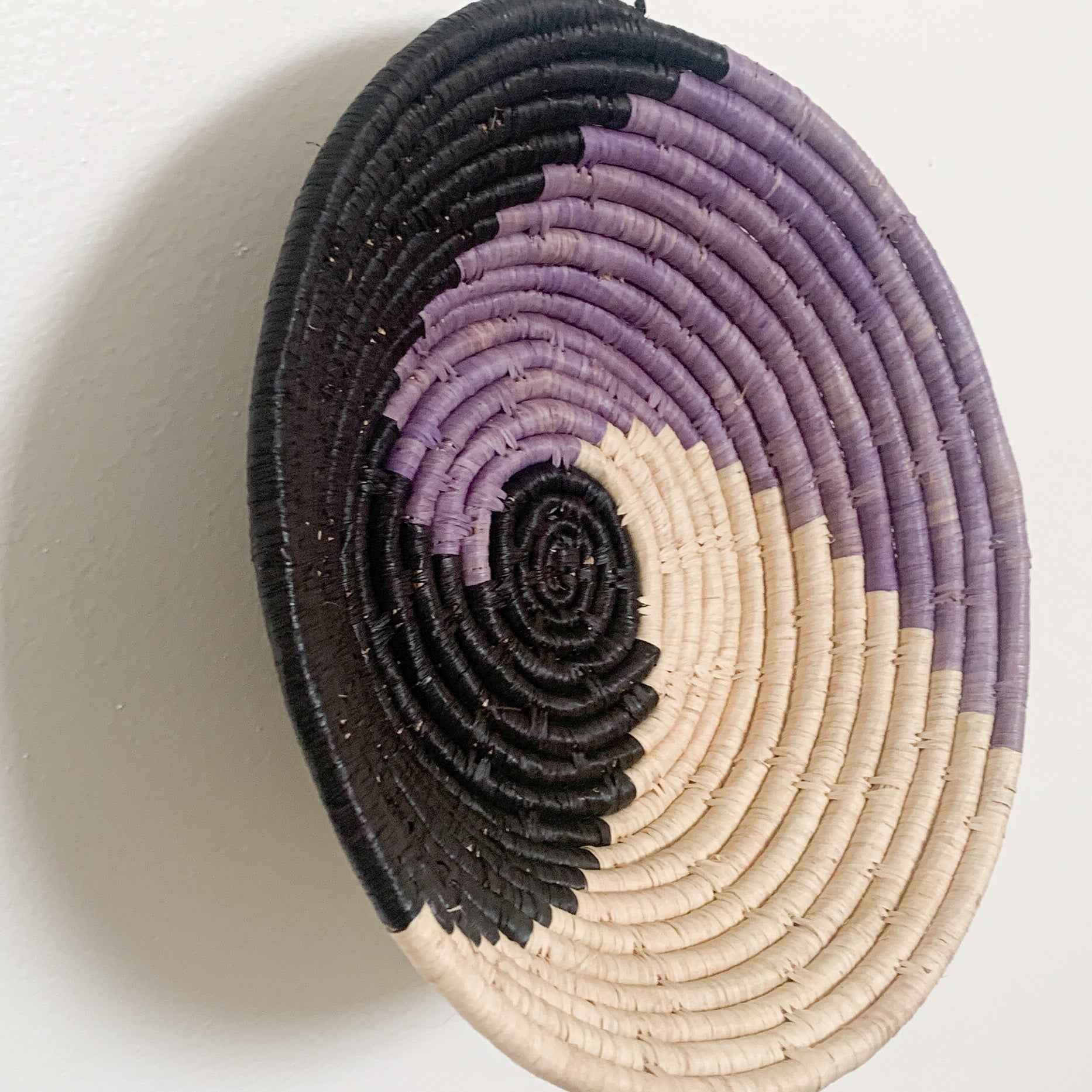 "10"" Black and Purple Round Basket"