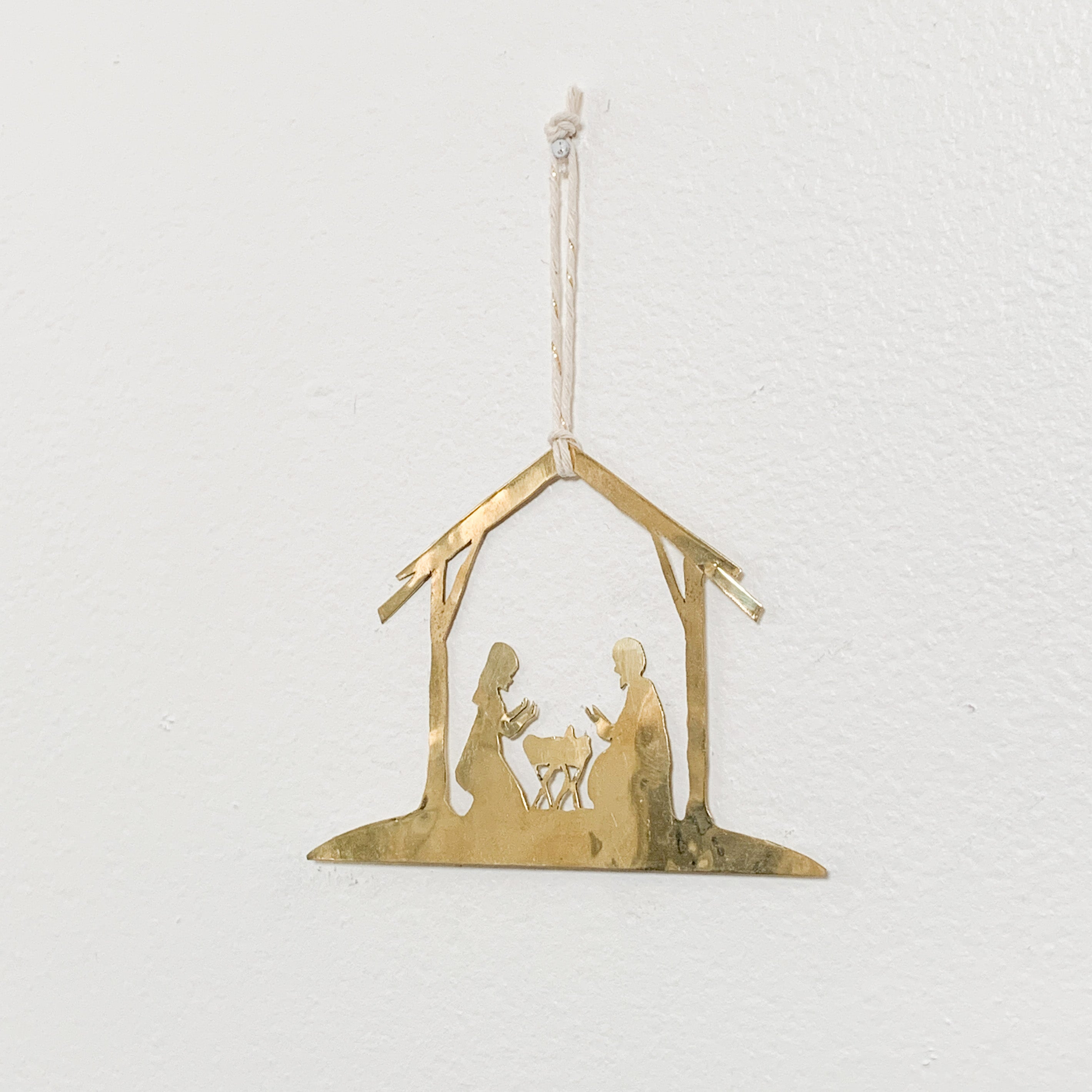 Brass Nativity Ornament
