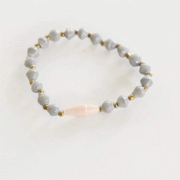 Child Grey-Peach Bracelet
