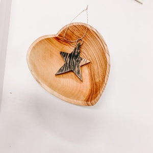 Coconut Star Ornament