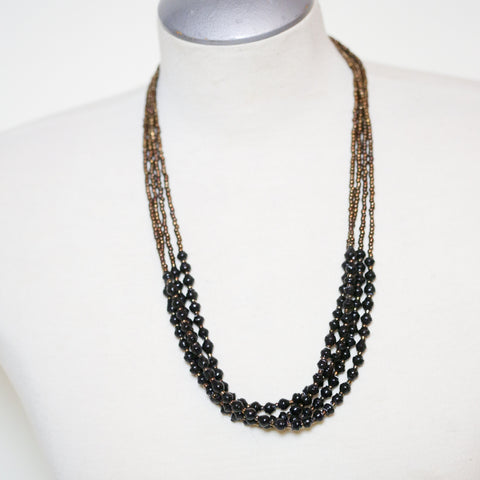 Black Paper Bead Necklace