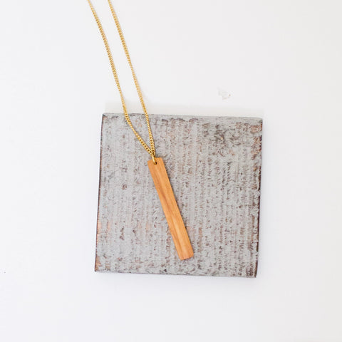 Brass Arc Necklace