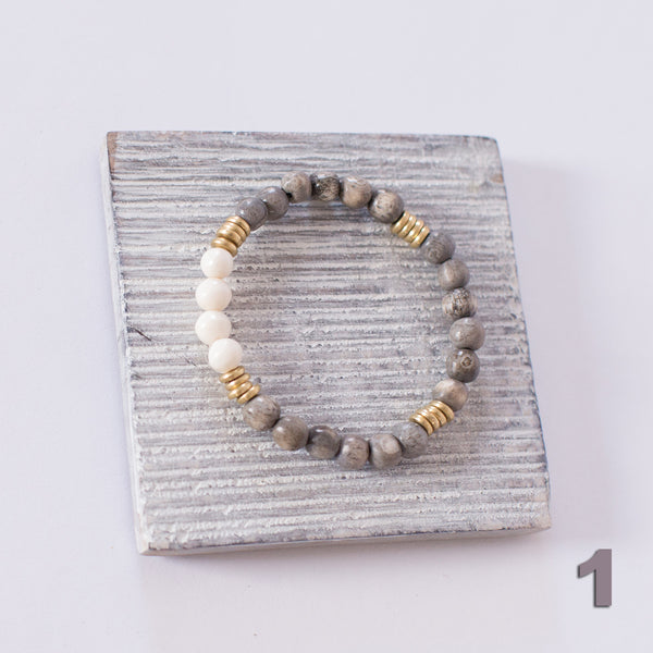 Bone and Brass Bracelets