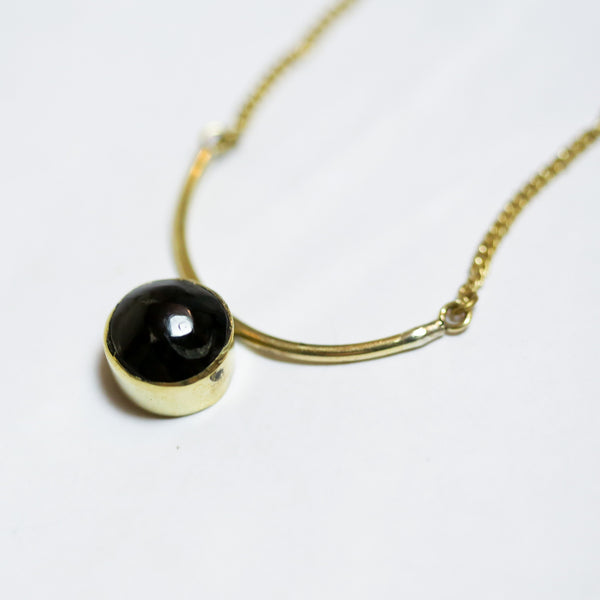 Circle and Arc Necklace